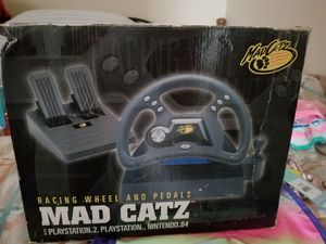 Racing wheel and pedal. Playstation, ps2 and Nintendo 64 for Sale in Goodyear, AZ