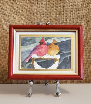 Perched Pair, Original Watercolor by Leslie Kreher for Sale in Burien, WA
