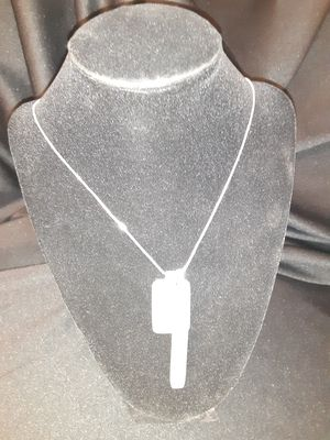 """35"""" Silver Chain Necklace W/Silver Plate Medalions for Sale in Brentwood, PA"""