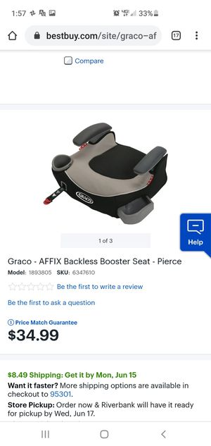 GRACO BOOSTER SEAT NEW for Sale in Atwater, CA
