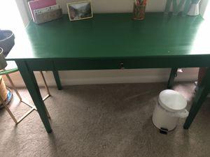 Green Desk with Gold Hardware for Sale in Atlanta, GA
