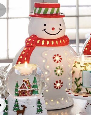 PartyLite Snowman jar holder for Sale in Roseville, MI