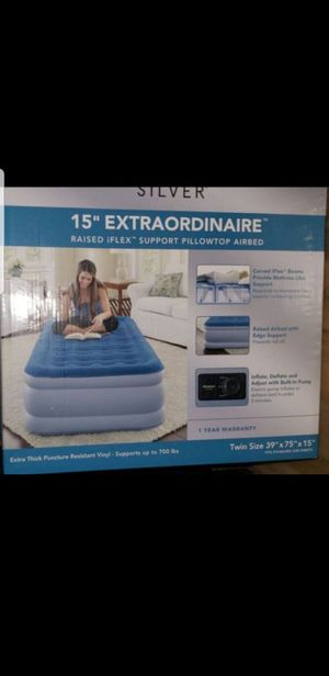 """New Beautyrest 15"""" Silver Extraordinaire Raised iFlex, Pillowtop w/ built-in pump Twin☆Retail $79+ Tax☆ for Sale in Glendale, AZ"""