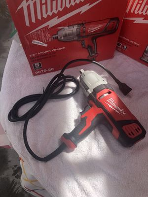 "Milwaukee 1/2"" impact wrench corded for Sale in Las Vegas, NV"