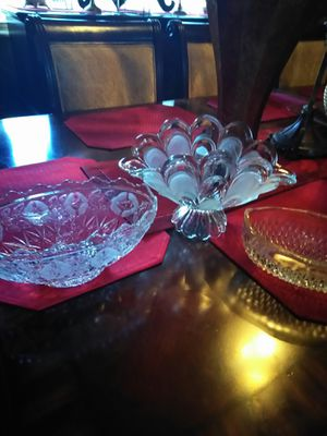 3 crystal bowls for Sale in Miami, FL