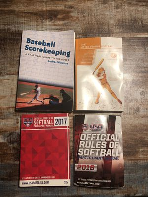 Softball/baseball and rule books for Sale in Elmhurst, IL