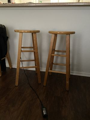 3 wooden stools for Sale in Houston, TX