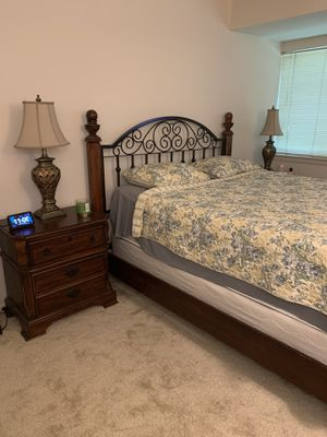Queen sized bed with mattress, frame and boxspring for Sale in Baltimore, MD
