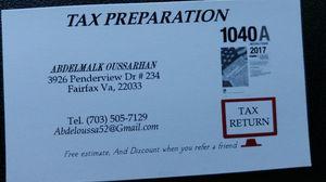 Tax preparation $80 for Sale in Fairfax, VA