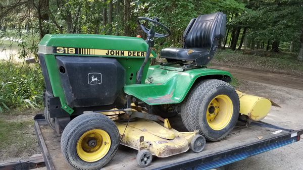 John Deere 317 Lawn Tractor with Mower and Tiller