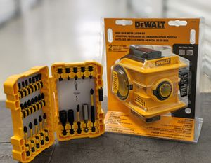 DeWalt door lock installation kit and drill bit kit for Sale in Houston, TX