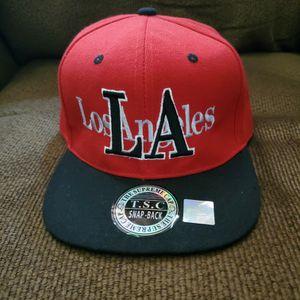 Los Angeles Snapback Hat Red & Black for Sale in North Las Vegas, NV