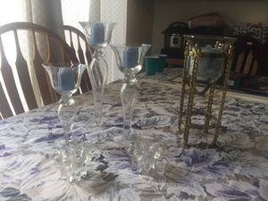 Glass candle holders for Sale in Wichita, KS