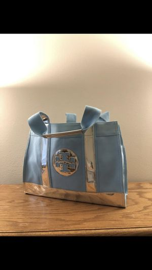 •LOW PRICE MOVING• $390 + TAX RETAIL TIFFANY BLUE TORY BURCH RARE TOTE for Sale in Mercer Island, WA
