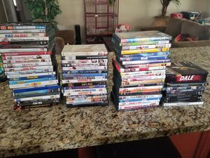 80 DVDs, dale 6 discs collectors set with tin, transformers, Disney for Sale in El Cajon, CA