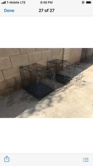 Small dog cages 18w x 24L x 21H $25 each for Sale in Phoenix, AZ