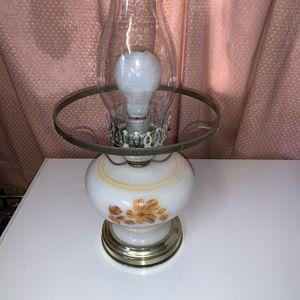 Vintage Milk Glass Hurricane Lamp/ Missing Top Globe Just $35 for Sale in Visalia, CA
