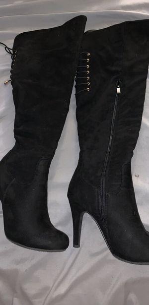 Thigh high heel boots for Sale in Wilmington, DE