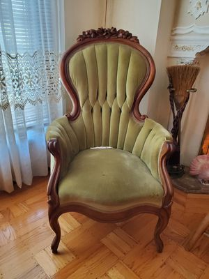 Vintage green velvet chairs for Sale in San Francisco, CA