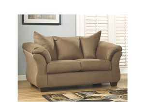 Tan Suede Loveseat for Sale in Camden, AR