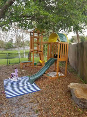 Kid Kraft Custom Cedar swing set for Sale in West Palm Beach, FL