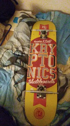 Kryptonics skateboard only ridden 4 times great shape just needs wheels for Sale in Knoxville, TN