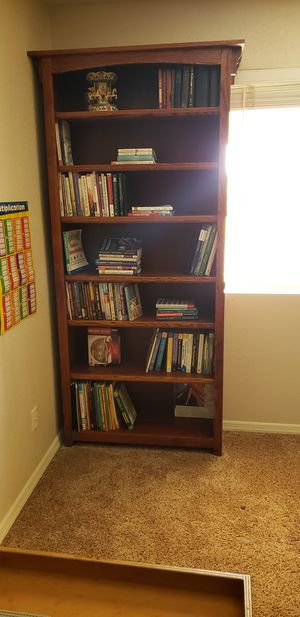 Bookshelf (2), Tall, Beautiful solid wood (see pricing in description, buy as set or individually) for Sale in Sanger, CA
