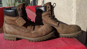 10.5 M. Vintage Retro TIMBERLAND classic brown leather Work hiking Boots. Tag attached. for Sale in San Antonio, TX