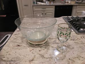Lenox Christmas glassware and punch bowl for Sale in FX STATION, VA
