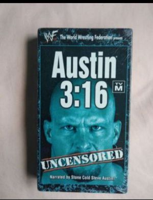 WWE WWF Stone Cold Steve Austin 3:16 Uncensored VHS *RARE* WRESTLING $20 Message if interested (Cross posted) for Sale in Salinas, CA