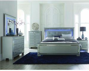 Queen size light up bedroom set. for Sale in Salina, KS