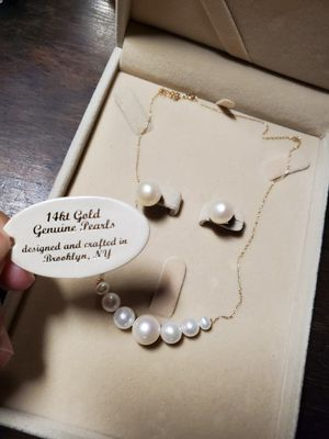 Fresh water pearls and 14k gold jewelries. for Sale in Lakewood, CA