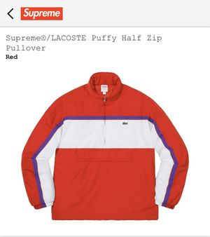 Supreme x Lacoste puffy jacket size small for Sale in Jersey City, NJ
