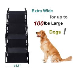 Pet Dog Car Step Stairs, Accordion Metal Frame Folding Pet Ramp for Indoor Outdoor Use, Lightweight Portable Auto Large Dog and Cat Ladder for Cars, for Sale in Garden Grove,  CA
