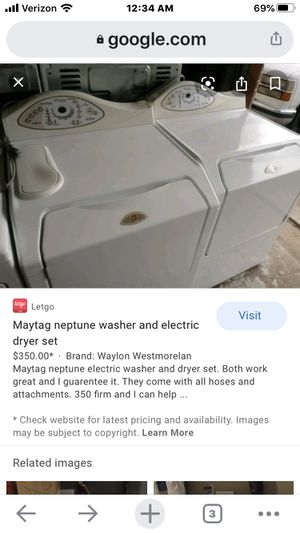 **WILL DELIVER!!** 😎27 Inch Front-Load Washer with 3.34 Cu. Ft. Capacity, 4 Wash Cycles and AutoTemp Internal Water Heater: Bisque for Sale in Phoenix, AZ