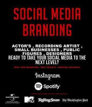 Social Media Branding . INSTAGRAM . SPOTIFY . REAL TIME MARKETING . REAL RESULTS . VERIFIED ACCOUNTS ✅ for Sale in New York, NY