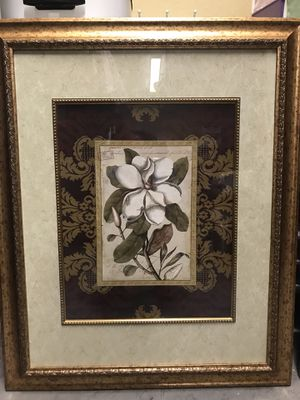 Pair of Magnolia Framed Wall Decor for Sale in Dickinson, TX