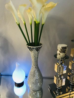 Vase with decorative flowers for Sale in Fairview, OR