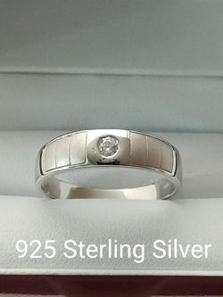 New with tag Solid 925 Sterling Silver MEN'S WEDDING Ring size 11 $125 OR BEST OFFER ** FREE DELIVERY!!! 📦🚚 ** for Sale in Phoenix,  AZ