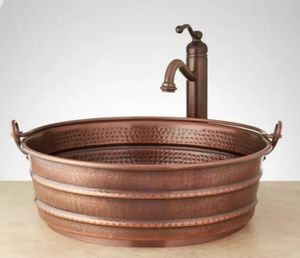 "17"" Hammered Copper Vessel Sink for Sale in Auberry, CA"