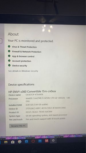 HP Touchscreen Laptop with fingerprint scanner ( willing to negotiate ) for Sale in San Marcos, TX