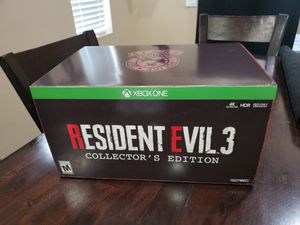 Resident Evil 3 Remake Collectors Edition Brand New In Hand XBox One 1 for Sale in Winchester, CA