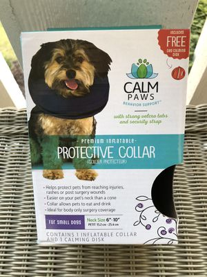 Calm Paws Premium Inflatable Protective Dog Collar - Safe, Comfortable Small 1ct for Sale in Yorkville, IL