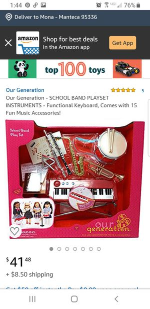 Doll music instrument set for Sale in Manteca, CA