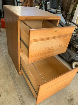 Wood file cabinet for Sale in Milpitas, CA
