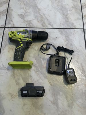 RYOBI 12-Volt Lithium-Ion Cordless 3/8 in. Drill/Driver Kit with 12-Volt Battery and Charger$45 for Sale in Lauderhill, FL