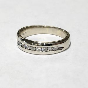 14K White Gold Unisex Fancy Channel Set Wedding Band Size: 9.5 with approx. 0.50cttw Diamonds **Great Buy** 90038-1 for Sale in Tampa, FL