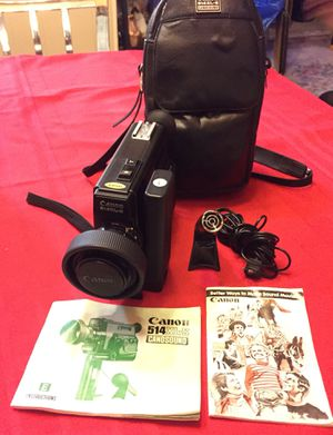 Canon film video camera vintage for Sale in UNIVERSITY PA, MD