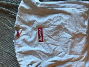 100% Authentic. Supreme Crewneck Grey Red. Size XL for Sale in Alexandria, VA