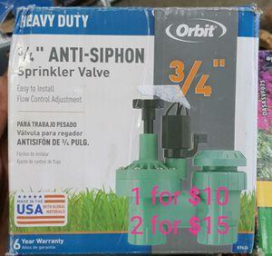 3/4 anti siphon sprinkler valve for Sale in Bakersfield, CA
